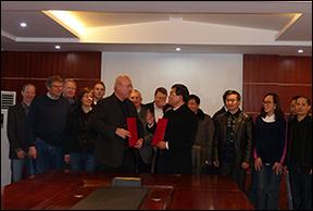 Yichun-Universität: Vertragsunterzeichnung